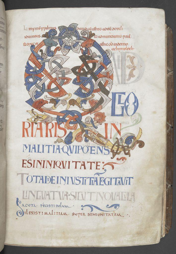 The Bosworth Psalter, f.33r