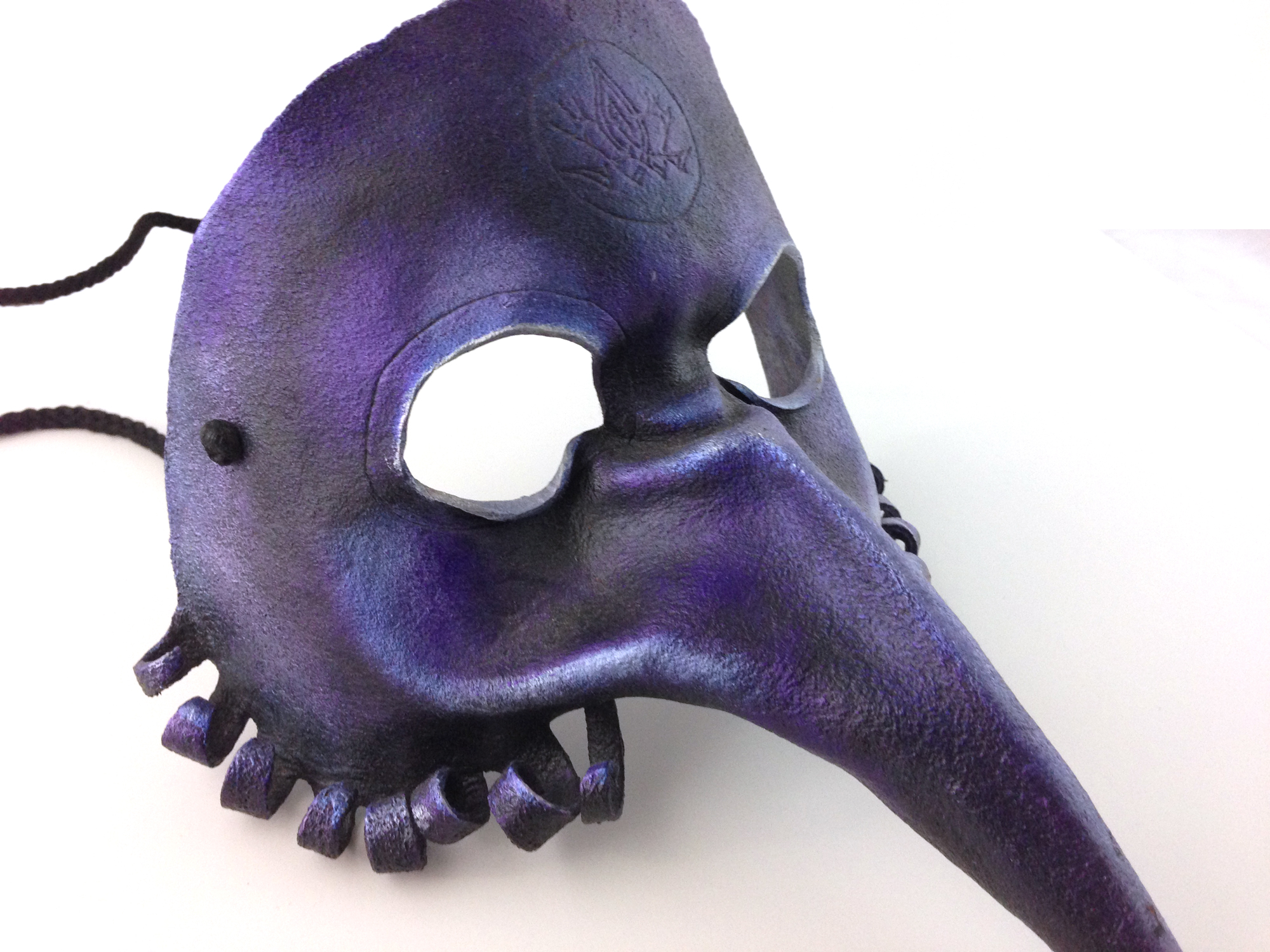 leather crow mask