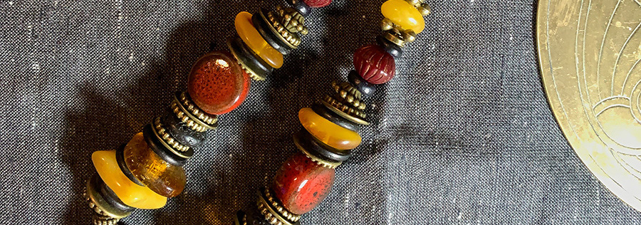 red amber chain necklace